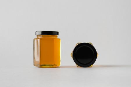 Photo pour Honey Jar Mock-Up - Two Jars - image libre de droit
