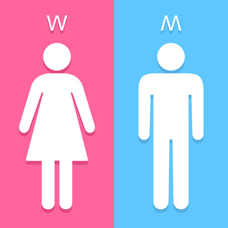 Illustration pour Men and Women toilet sign great for any use. Vector EPS10. - image libre de droit