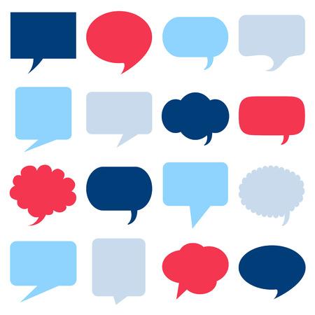 Illustration pour Blank empty speech bubbles icons set great for any use.  - image libre de droit