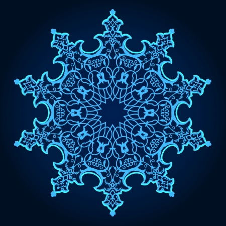 Illustration for  traditional Persian-Arabic-Turkish-Islamic Pattern  - Royalty Free Image