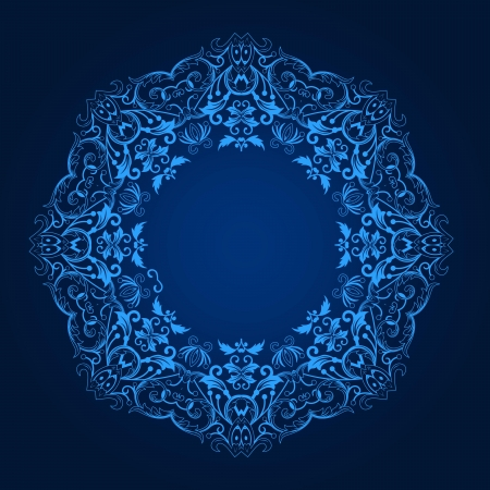 Illustration pour Vector of traditional Persian-Arabic-Turkish-Islamic Pattern  - image libre de droit