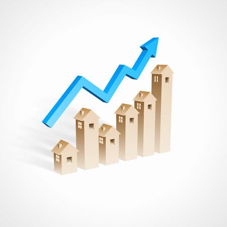 Ilustración de Real estate investment concept - Imagen libre de derechos