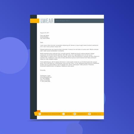 Illustration pour Professional Letterhead Design Template - image libre de droit