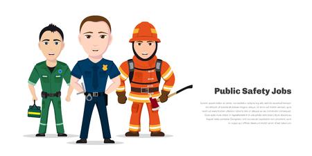 Illustration pour Public safety jobs - image libre de droit