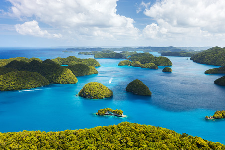 Photo pour Beautiful view of Palau islands from above - image libre de droit