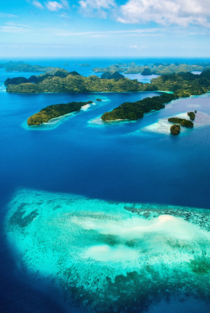 Photo for Beautiful view of Palau islands from above - Royalty Free Image