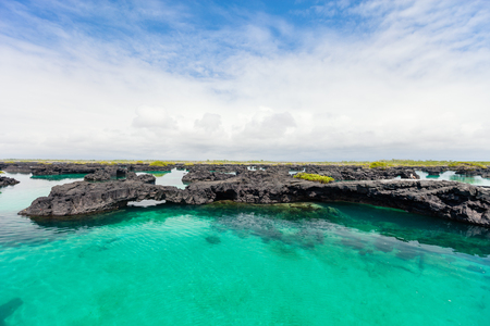 Photo for Landscape of Los Tuneles Galapagos islands - Royalty Free Image