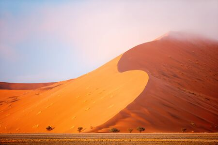 Photo for Beautiful red sand dunes in Sossusvlei in Namibia - Royalty Free Image