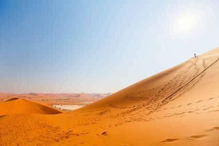 Photo for Breathtaking view of red sand dunes of Deadvlei in Namibia - Royalty Free Image