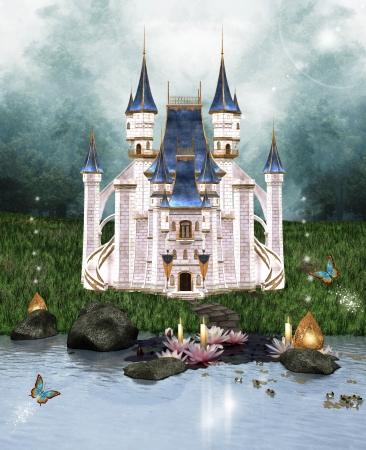 Enchanted castle mural