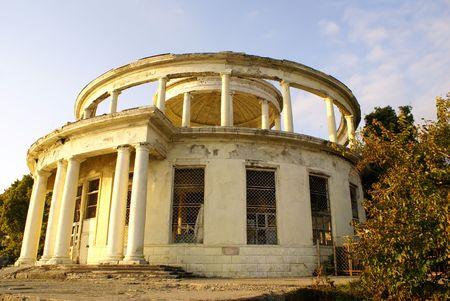 Circle building in Matsesta near Sochi, Black sea coast, Russia