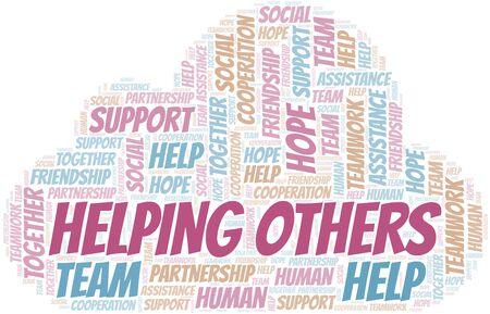 Ilustración de Helping Others word cloud. Vector made with text only. - Imagen libre de derechos