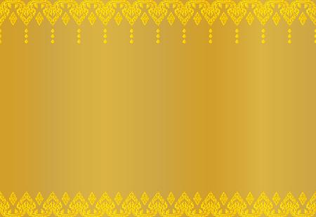 Illustration pour Thai golden vintage pattern abstract background, vector illustration. - image libre de droit
