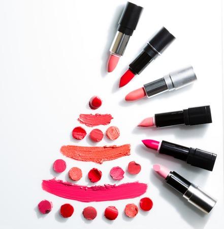 Foto de Lipstick on white background top view - Imagen libre de derechos