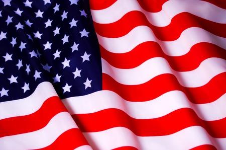 Foto de Waving American flag - Imagen libre de derechos