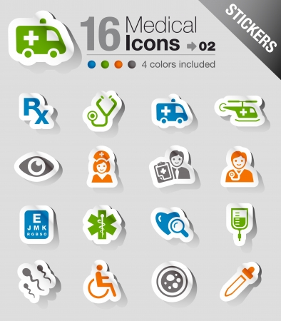 Photo for Glossy Stickers - Medical Icons - Royalty Free Image