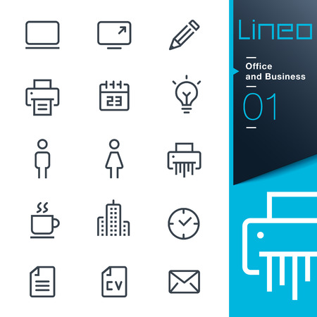 Illustration for Lineo - Office and Business outline icons - Royalty Free Image
