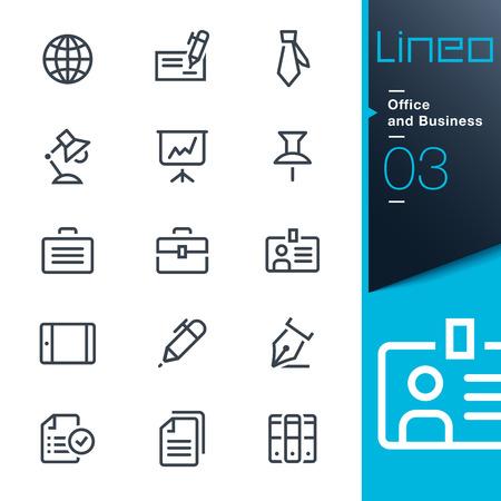 Illustration pour Lineo - Office and Business outline icons - image libre de droit