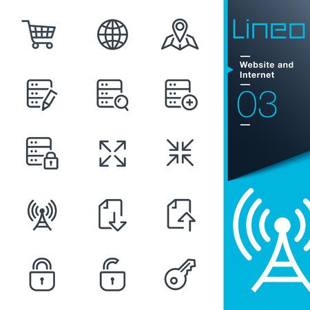 Illustration pour Lineo - Website and Internet outline icons - image libre de droit