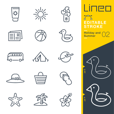 Illustration pour Lineo Editable Stroke - Holiday and Summer line icon Vector Icons - Adjust stroke weight - Change to any color - image libre de droit