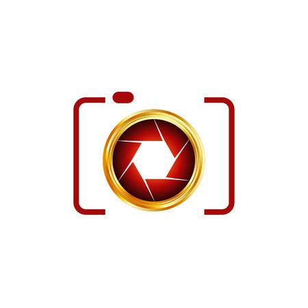 Illustration pour Digital Camera- photography logo - image libre de droit