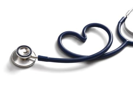 Foto de A stethoscope in the form of a heart - Imagen libre de derechos