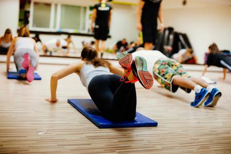 Photo pour High-intensity interval training workout. Hiit group training - image libre de droit