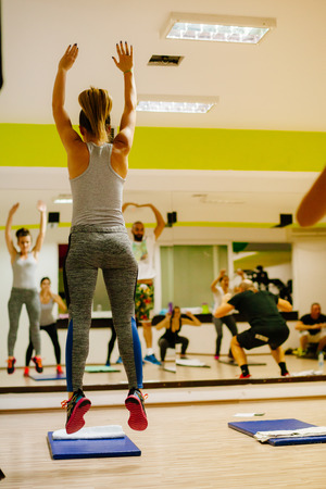Foto de High-intensity interval training workout. Hiit group training - Imagen libre de derechos