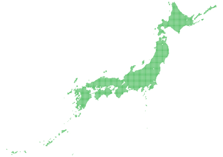 Illustration pour Japan map made with dots - image libre de droit