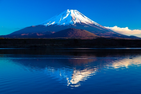 Mt.Fuji in the blue sky