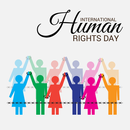 Illustrazione per International Human Rights Day. - Immagini Royalty Free