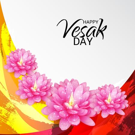 Illustration for Happy Vesak Day. - Royalty Free Image