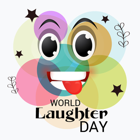 World Laughter Day, with typography and image Illustration.