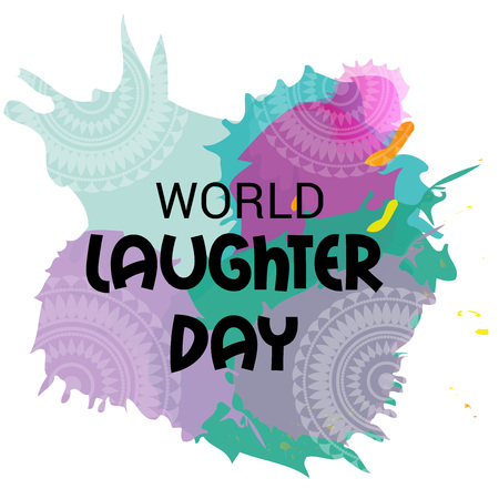 World Laughter Day typography Illustration.
