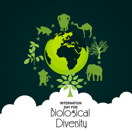 Illustrazione per International Day For Biological Diversity. - Immagini Royalty Free
