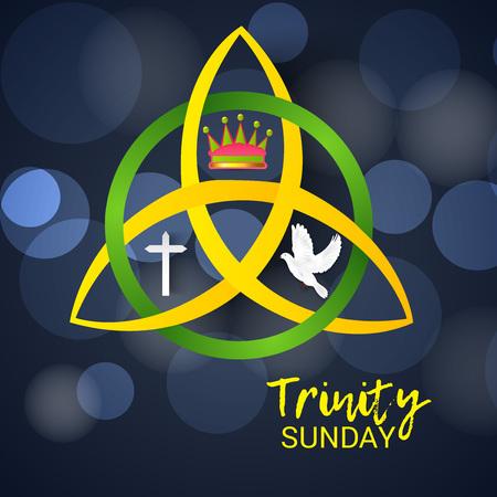 Ilustración de Trinity Sunday. - Imagen libre de derechos