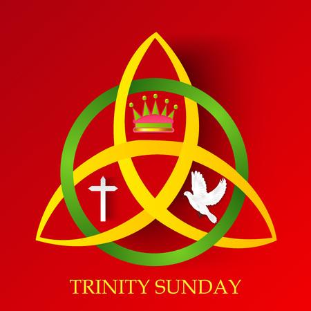 Illustrazione per Trinity Sunday. - Immagini Royalty Free