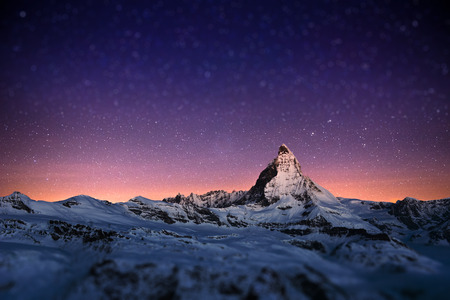 Photo pour Matterhorn peak, Zermatt, Switzerland. - image libre de droit