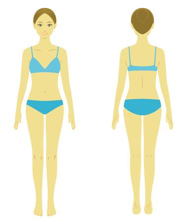 Ilustración de Woman body model - Imagen libre de derechos