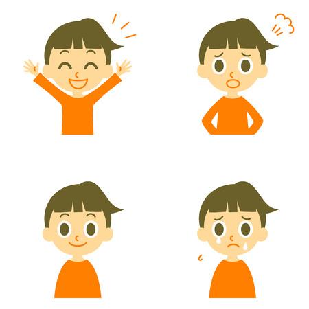 Illustrazione per Girl joyful angry weep - Immagini Royalty Free