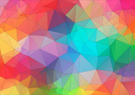 Illustration for Abstract 2D triangle colorful background - Royalty Free Image
