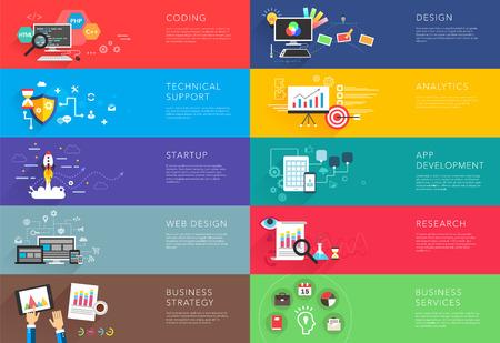 Illustration pour business and development templates vector - image libre de droit