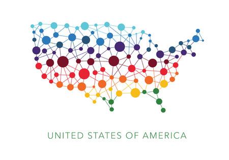 Illustration pour dotted texture USA vector background - image libre de droit