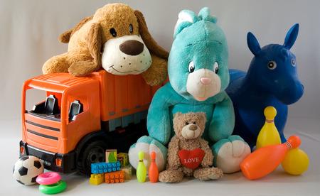 Foto de Toys - cheerful family - Imagen libre de derechos