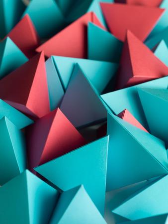 Photo pour abstract wallpaper consisting of multicolored pyramids - image libre de droit