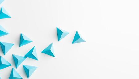 Foto de abstract tetrahedron background. copy space available. usefull for business cards and web - Imagen libre de derechos