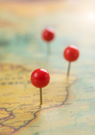 Photo for Pushpin on a tourist map,Travel concept - Royalty Free Image