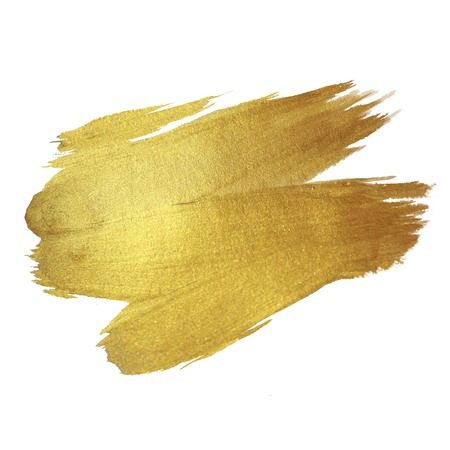 Foto de Gold Shining Paint Stain Hand Drawn Illustration - Imagen libre de derechos