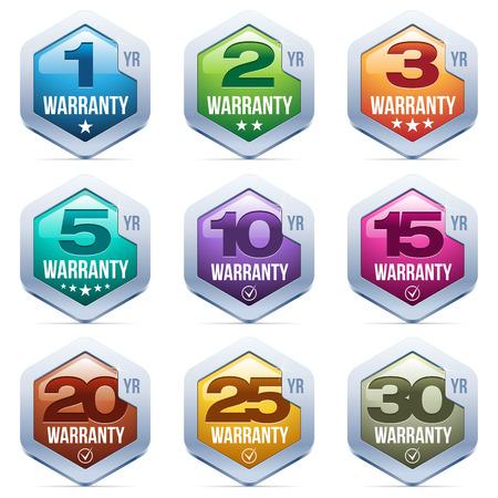Illustration pour Warranty Seal Metal Badge - image libre de droit