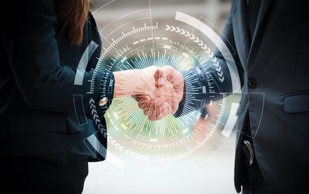 Foto de Business handshake to start new projects. Business concept, Teamwork concept - Imagen libre de derechos